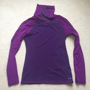 Champion cold weather running top- size small